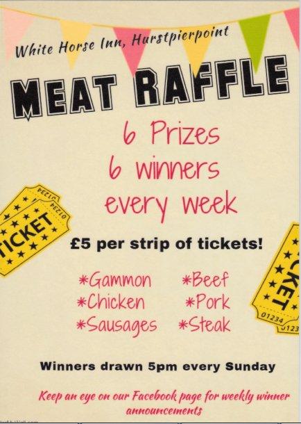 Meat Raffle Promo White Horse Inn Hurstpierpoint