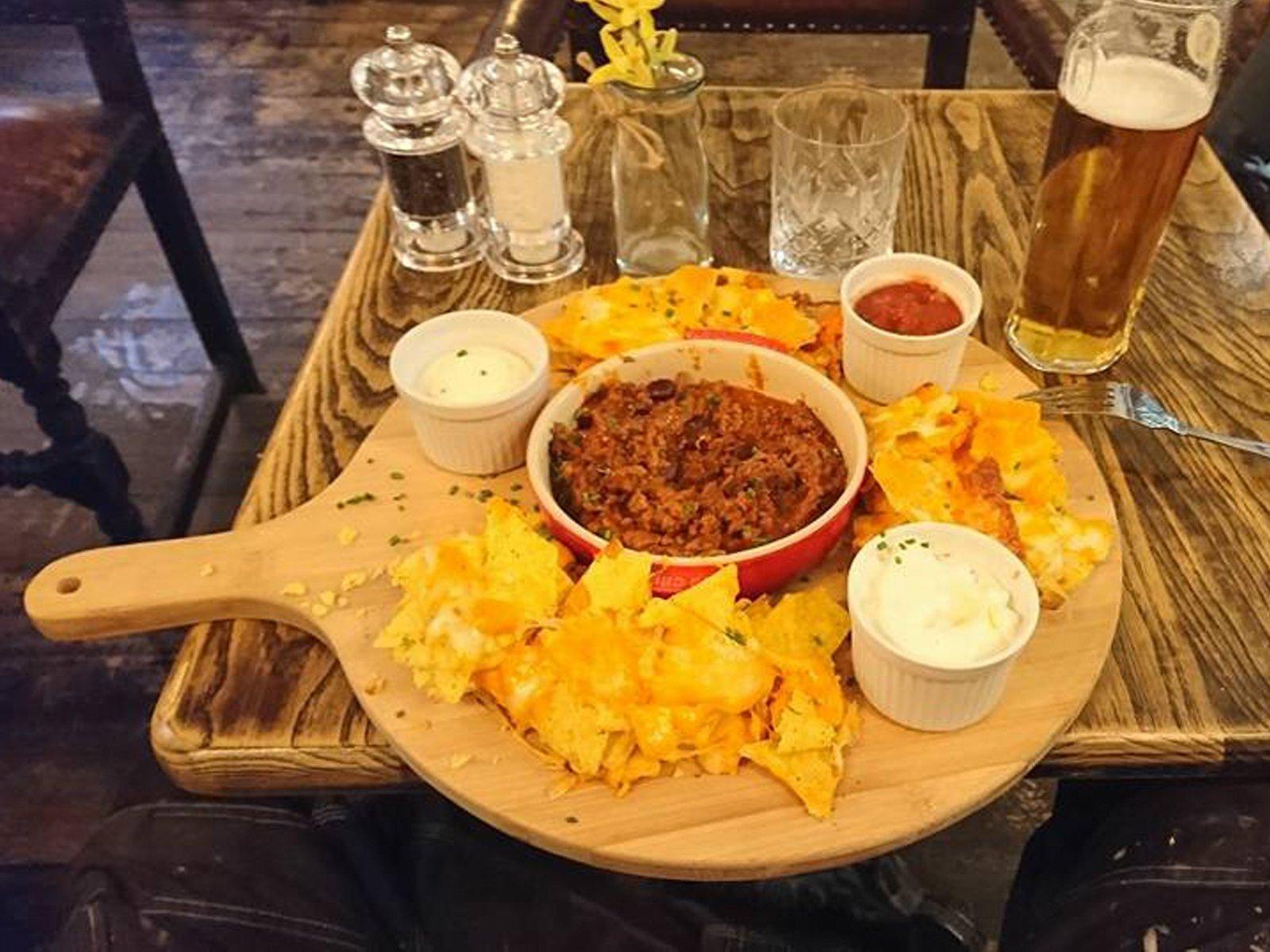 Chilli nachos White Horse Inn Hurstpierpoint
